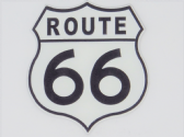 ROUTE 66 3D EFFECT FRIDGE MAGNET